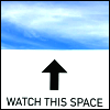 """kate_nepveu: text: """"watch this space,"""" below an arrow pointing up at blue sky (forthcoming)"""