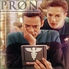 "nenya_kanadka: Julian and Jadzia look at a document, caption ""PR0N"" (ST Julian Jadzia pr0n)"