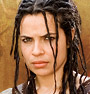 smilingslightly: Photo of Zuleikha Robinson as Gaia in Rome. She looks tough. (don't mess with zuleikha)