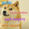 such_heights: a shiba inu dog captioned 'wow, much fandom, such heights, many squee' (text: such doge)