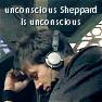 jb_slasher: john sheppard; stargate atlantis (unconscious sheppard is unconscious)