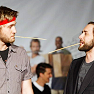 jb_slasher: aaron staton, vincent kartheiser (let us poke at each other with sticks)