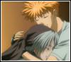 branchandroot: Gingi hugging Makubex (Ginji hug)