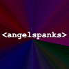 laurenmitchell: White text reading 'angelspanks' on a multicoloured background, (Angelspanks.)