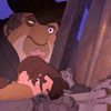 delphi: Treasure Planet's John Silver protecting Jim Hawkins from the storm. (jim/silver)