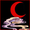 branchandroot: red crecent on clouds and black (red moon)