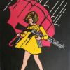 dchan: The Morton Salt umbrella girl carrying a machine gun (luka drawing)