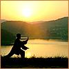 branchandroot: person doing tai chi in the sun (tai chi)
