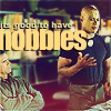 mewithme: Jack And Teal'c From SG-1, Juggling. Text: It's Good To Have Hobbies (Hobbies Good)