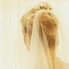 loveandwar: A blonde woman wearing a wedding veil (Another woman's crown)