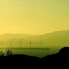 ears101: A misty landscape with wind turbines. (Wind farm) (Default)