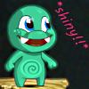 ilyena_sylph: happy monster thinks this is shiny!! (MLC: shiny!)