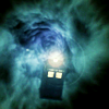 skieswideopen: The TARDIS floating in space (Doctor Who)
