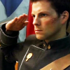 skieswideopen: Lee Adama in uniform, saluting (BSG: Lee saluting)