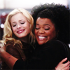 littledust: Britta & Shirley, hugging. ([comm] hugs and friendship)