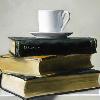 latin_cat: (books and tea)