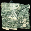 rivkat: trust no one folded dollar bill by dan tague (trust no 1)