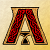 ext_34967: Celtic style letter A (Pagan: Celtic Stag)