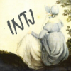 anghraine: watercolour of jane austen; text: intj (jane austen (was an intj))