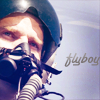 skieswideopen: Cam in a cockpit with the word 'flyboy' written beside him (SG: Cam as pilot)
