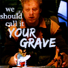 """damkianna: A cap of Wash from Firefly, with accompanying text: """"We should call it your grave."""" (We should call it your grave.)"""