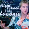 """damkianna: A cap of Wash from Firefly, with accompanying text: """"Once, in flight school, I was laconic."""" (Once in flight school I was laconic.)"""