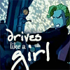 "damkianna: A cap of Helga from Disney's Atlantis, with accompanying text: ""Drives like a girl."" (Drives like a girl.)"