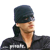 """damkianna: A cap of Westley from The Princess Bride, with accompanying text: """"... Pirate."""" (... Pirate.)"""