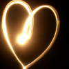littlemousling: Heart drawn in light on a long-exposure photograph (I think) (heart)