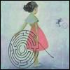 skywardprodigal: young girl holding a hoop-maze (solving-james jean (jamesjean.com))
