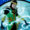 notaswicked: Loki, gathering up his power and grinning with anticipation of a fight (Crackling with power)