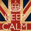 "lasergirl: union jack with ""keep calm"" and a king's crown over it (Keep Calm Your Majesty)"
