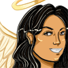 alexseanchai: Leah Driscoll from Blow Your Trumpet Gabriel, with angel wings and halo (Leah Far-Sighted)