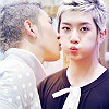 actionreaction: photo of baekho and ren from nu'est. baekho is whisperingin ren's ear very close ([kpop] lunatox: kc and shin smooch)