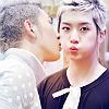 actionreaction: photo of baekho and ren from nu'est. baekho is whisperingin ren's ear very close ([kpop] lunatox: kc and shin smooch)