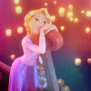 "fallingtowers: rapunzel from ""tangled"" in a boat, looking at the floating sky lanterns (Fandom: Disney)"