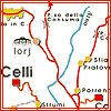 celli: a map with the town of Celli bolded (map Celli)