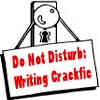 "celli: a doorknob with a sign hung on it that reads, ""Do Not Disturb: Writing Crackfic"" (crackfic)"