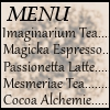 the_e_cafe: (The Menu)