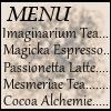 the_e_cafe: (The Menu)