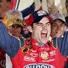 celli: NASCAR driver Jeff Gordon celebrating with his arms raised high (Gordon yay!)