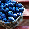 delphi: A carton of fresh blueberries. (blueberries)