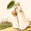 regency_exchange: Two regency ladies with a parasol (Regency ladies)
