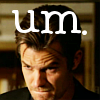 nemonclature: Raylan biting his lip, text: um (Um)