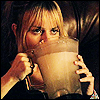 spatz: woman drinking margaritas straight out of the blender pitcher (H50 Mary margaritas)
