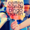 cottoncandymods: Cotton Candy Bingo Admin over a pink cotton candy/candy floss cone (Cotton Candy Bingo Admin)
