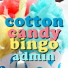 "cottoncandymods: ""Cotton Candy Bingo Admin"" over cups of pink, yellow, & blue cotton candy styled like cupcakes (Cotton Candy Bingo Admin 2)"