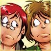 estirose: Tarvek and Gil making worried faces (Gil and Tarvek are worried - Girl Genius)