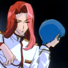 mikogalatea: Touga and Miki from Revolutionary Girl Utena. Touga is sitting in a casual manner, while Miki has his head turned away. ([Utena] Touga/Miki)