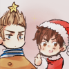 crossesandguns: spain making netherlands his christmas tree (hetalia: netherlands)